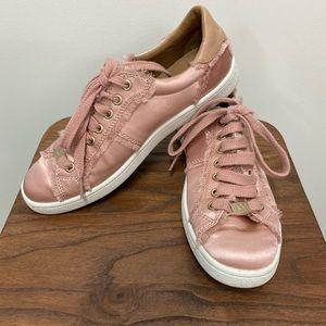 UGG Milo Pink Satin Sneakers